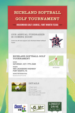 Richland Softball Golf Tournament