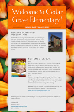 Welcome to Cedar Grove Elementary!