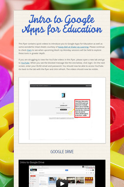 Intro to Google Apps for Education
