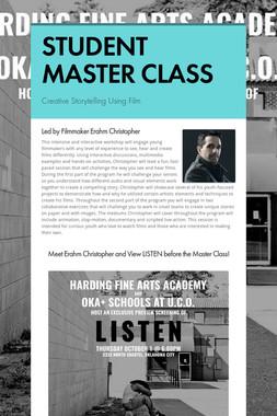 STUDENT MASTER CLASS