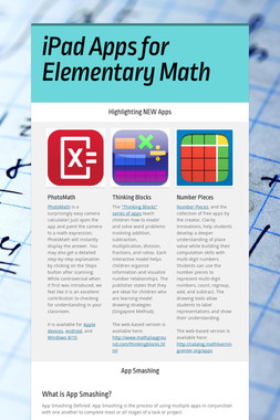 iPad Apps for Elementary Math