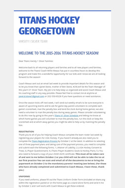 TITANS HOCKEY GEORGETOWN