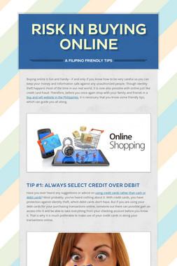 Risk in Buying Online