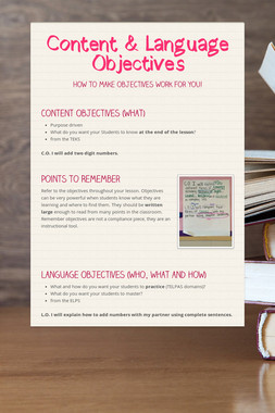 Content & Language Objectives
