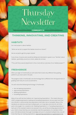 Thursday Newsletter