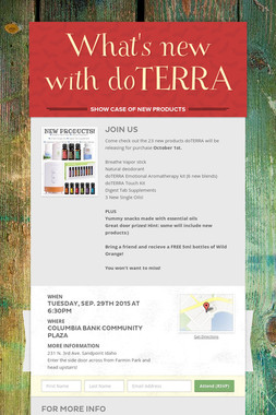 What's new with doTERRA