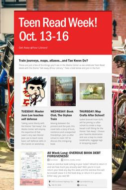 Teen Read Week! Oct. 13-16
