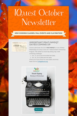 IQuest October Newsletter