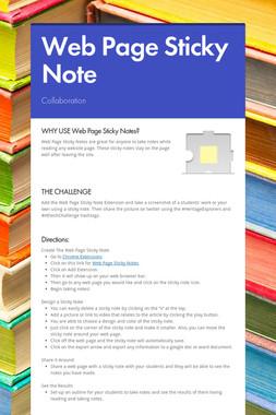 Web Page Sticky Note