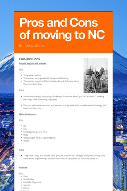 Pros and Cons of moving to NC