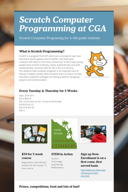 Scratch Computer Programming at CGA
