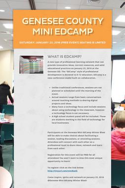 Genesee County Mini EdCamp