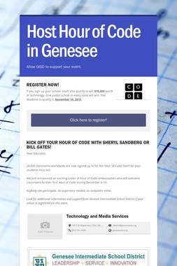 Host Hour of Code in Genesee