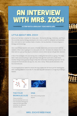 An Interview With Mrs. Zoch