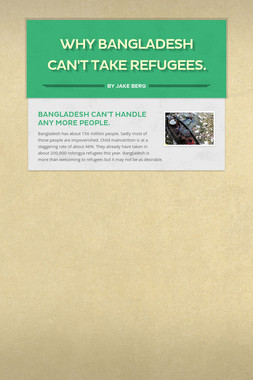 Why Bangladesh can't take refugees.