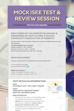 MOCK ISEE Test & Review Session