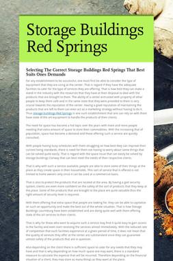 Storage Buildings Red Springs