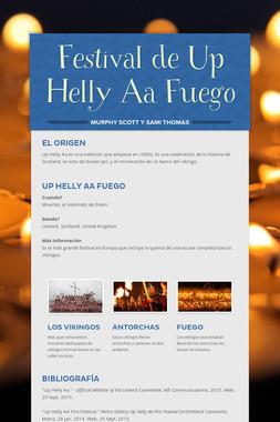 Festival de Up Helly Aa Fuego