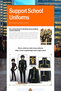 Support School Uniforms