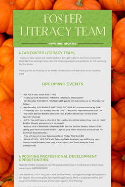 FOSTER LITERACY TEAM