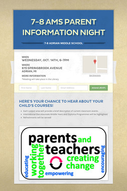 7-8 AMS Parent Information Night
