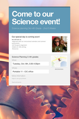 Come to our Science event!