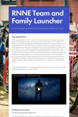 RNNE Team and Family Launcher