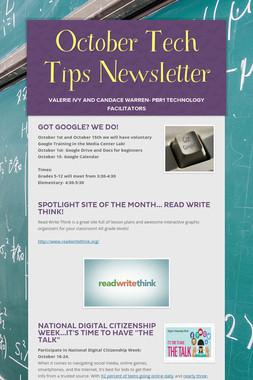 October Tech Tips Newsletter