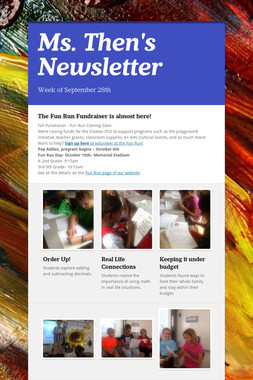 Ms. Then's Newsletter