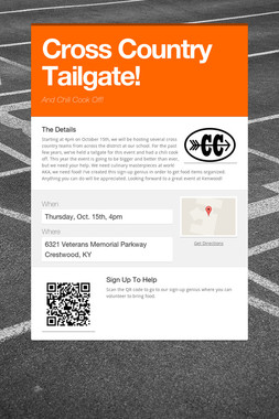 Cross Country Tailgate!