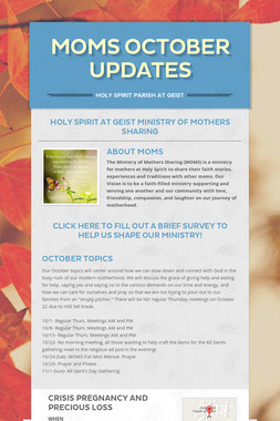 MOMS October Updates