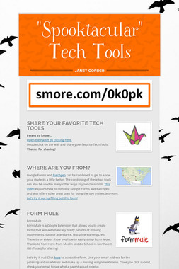 """Spooktacular"" Tech Tools"