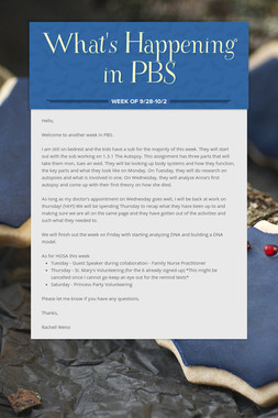What's Happening in PBS