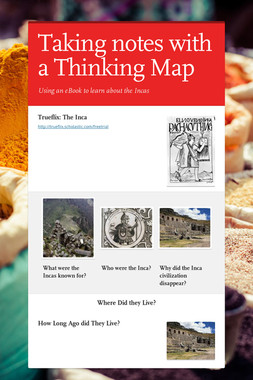 Taking notes with a Thinking Map