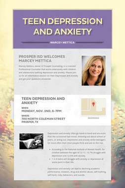 Teen Depression and Anxiety
