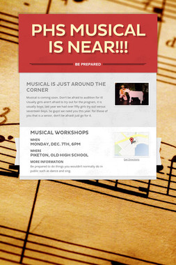 PHS Musical is near!!!