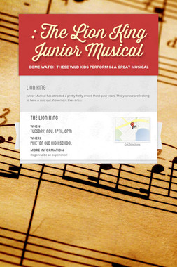 : The Lion King Junior Musical