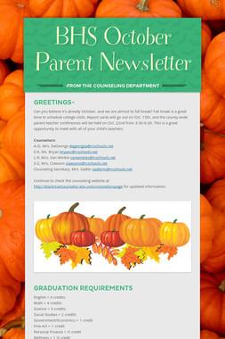 BHS October Parent Newsletter