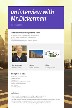 an interview with Mr.Dickerman