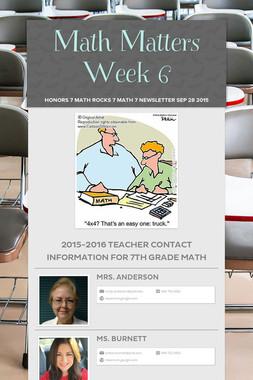 Math Matters Week 6