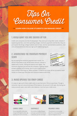 Tips On Consumer Credit