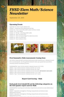 FHSD Elem Math/Science Newsletter