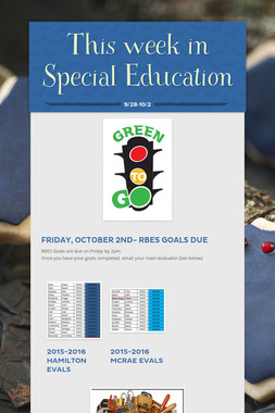 This week in Special Education