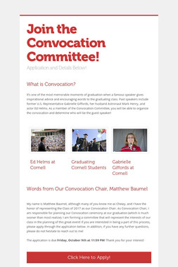 Join the Convocation Committee!
