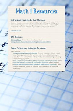 Math 1 Resources