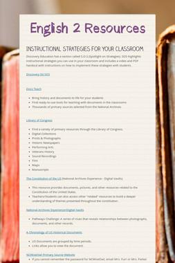 English 2 Resources