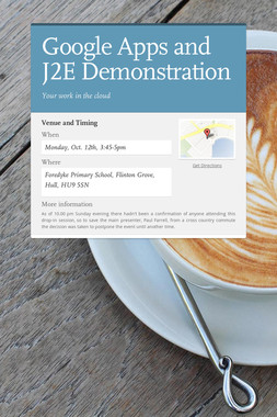 Google Apps and J2E Demonstration