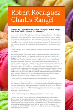 Robert Rodriguez Charles Rangel