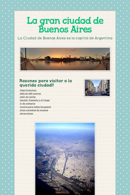La gran ciudad de Buenos Aires