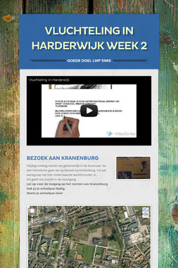 Vluchteling in Harderwijk week 2